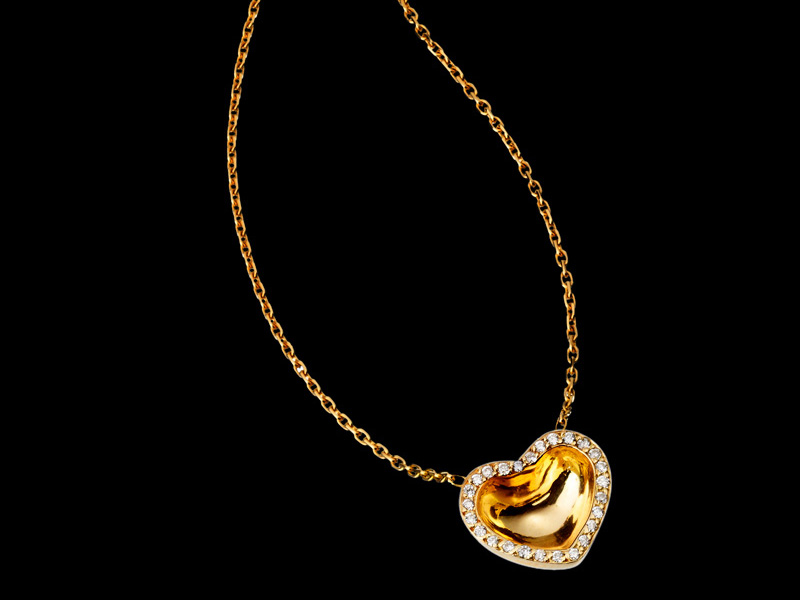Necklace in 18K Gold and diamonds